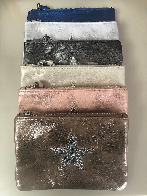 Metallic Star Purse