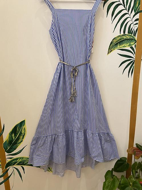 Stripe swing hem dress