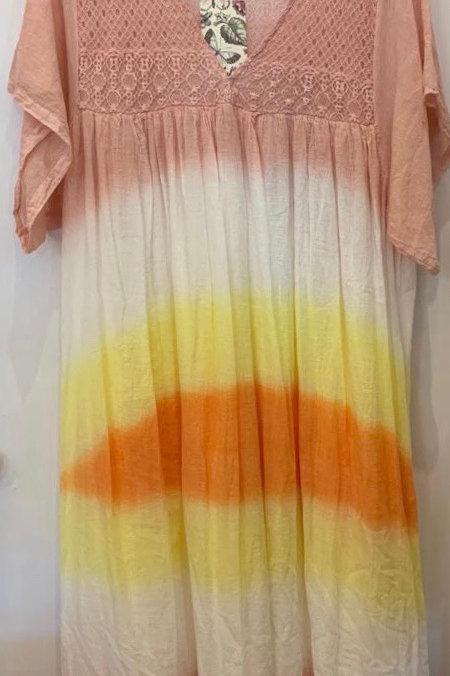 Tie dye, Kaftan style, Maxi Dress