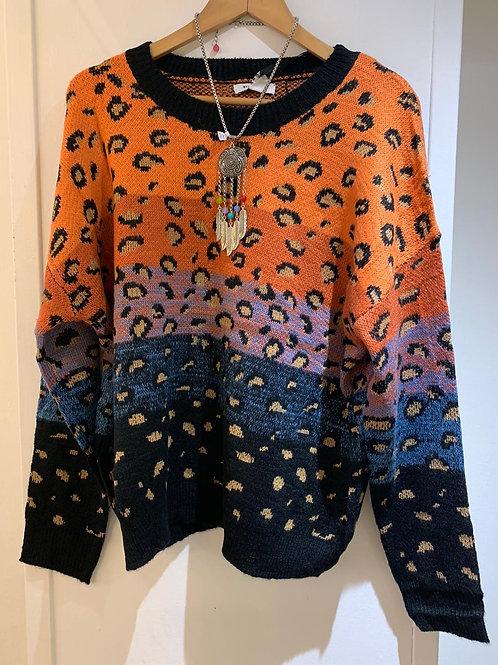 Multicoloured Leopard Print Sweater