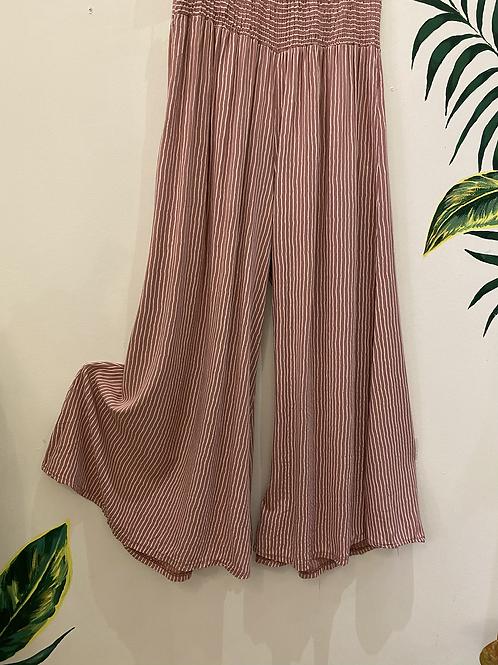 Wide Leg Pinstripe Pants