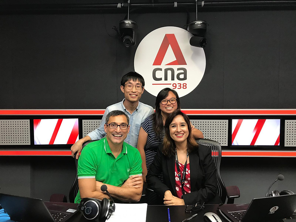 Hatch co-founders Victor Zhu and Yeoh Wan Qing with hosts Melanie Oliverio and Lance Alexander