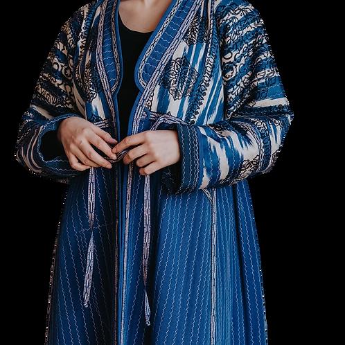 Пальто-халат из шелка и хлопка