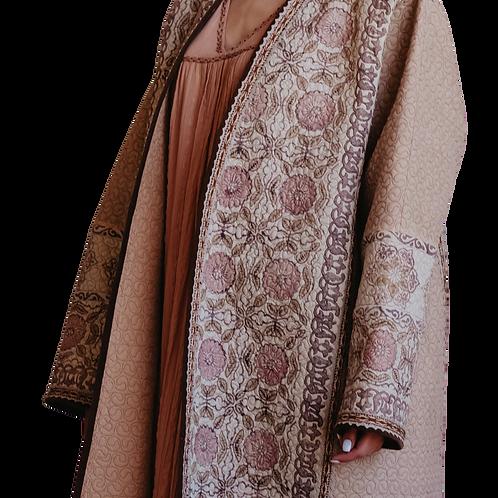 Пальто-халат из хлопка и льна