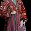 Thumbnail: Пальто-халат из шелковой и хлопчатобумажной винтажной ткани