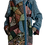 Thumbnail: Пальто-халат с использованием винтажных гобеленовых сюжетных вставок