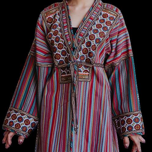 Пальто-халат из винтажной полушелковой ткани