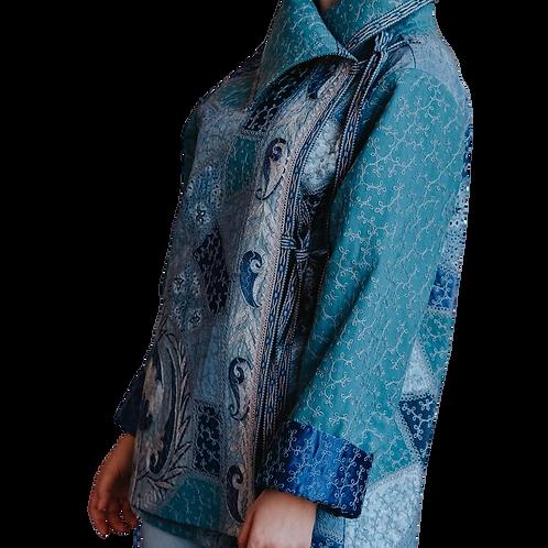 Куртка из шелка и хлопка