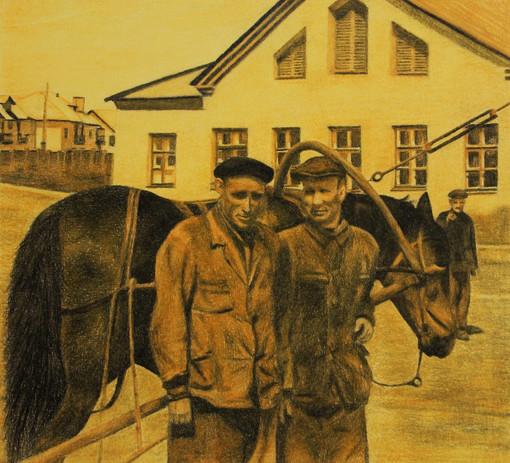 Makeyevka 1960 | Pastel Pencils on Paper | 30x33 cm | 2017