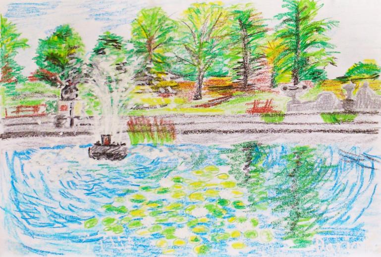 Untitled (Lake) | Panda Pencils on Paper | 21x29 cm | 2010