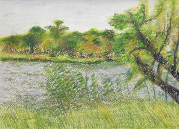Untitled (Landscape) | Pastel Pencils on Paper | 22x31 cm | 2016