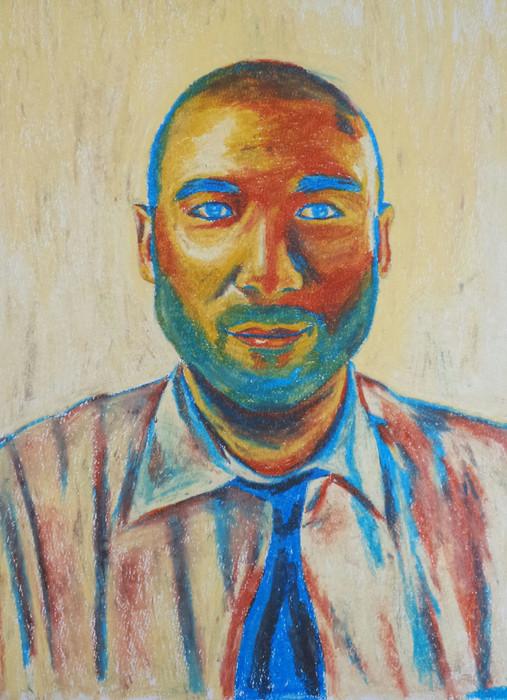 Moshe | Oil Pastel on Paper | 50x70 cm | 2014