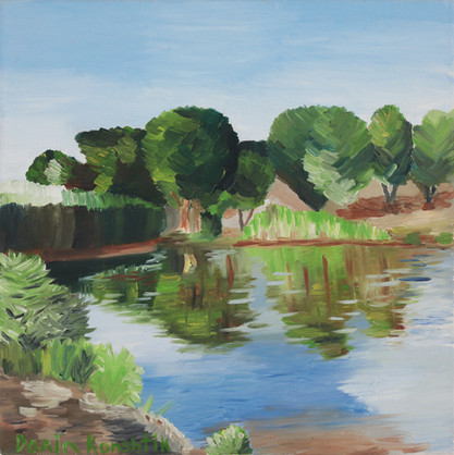 Untitled (Landscape) | Oil on Canvas | 40x40 cm | 2010