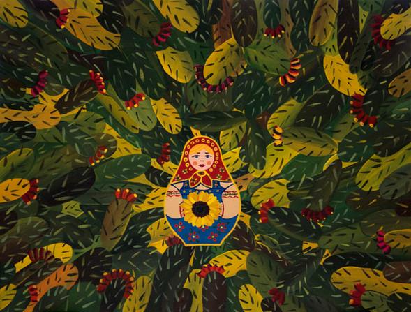 Sabras' Matryoshechka   Acrylic on Canvas   30x40 cm   2017