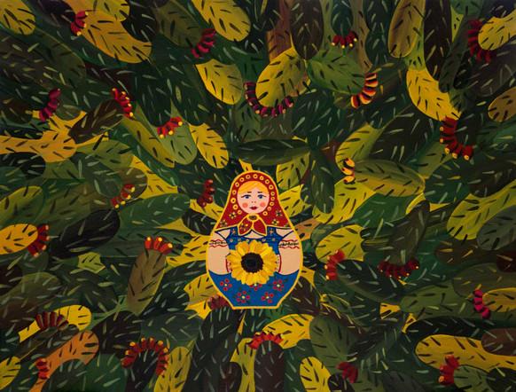 Sabras' Matryoshechka | Acrylic on Canvas | 30x40 cm | 2017