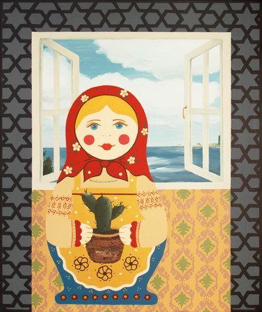 Doll with Sabras   Acrylic on Canvas   60x50 cm   2020