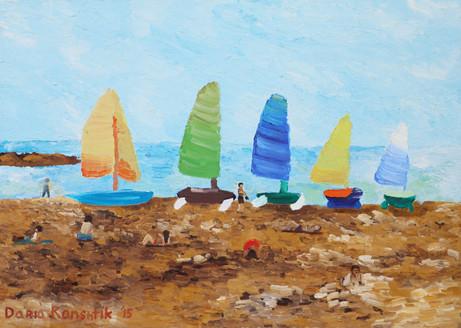 On the Beach | Oil on Canvas | 50x70 cm | 2015