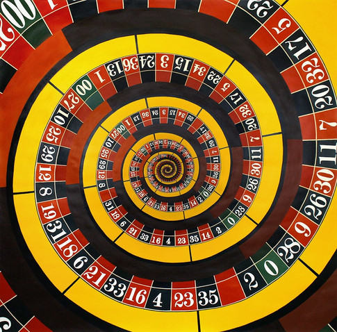 Roulette (The Gambler) | Acrylic on Paper | 140x140 cm | 2017