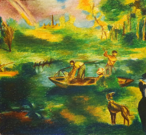 La Peche - Fishing (Eduard Manet) | Pastel on Paper | 36x34 cm | 2016