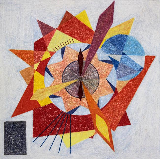 The Clock | Color Pencils on Paper | 32x32 cm | 2015