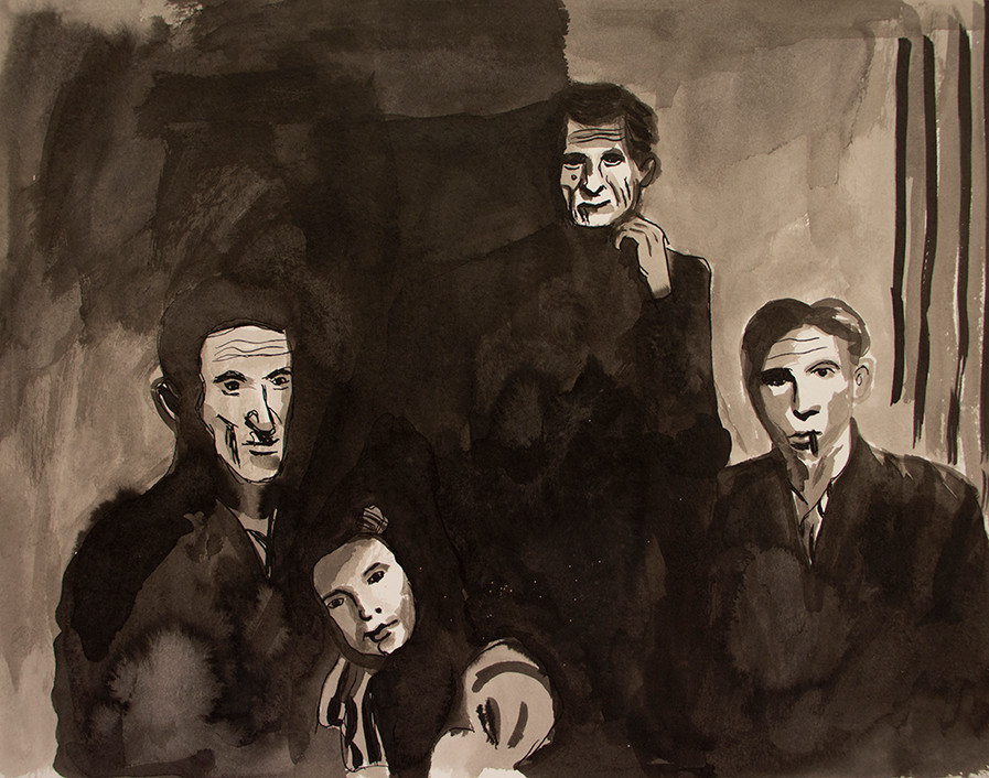 Four Charachters | Black Ink on Paper | 24x31 cm | 2014