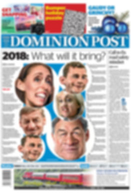Dominion Post front page 2018