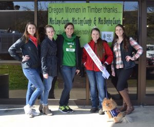 OLC Family Day event, the Lane County Miss Oregon organization helped OWIT run the Bird Feeder Booth