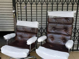 MODE retro design PU leather high back chair & low back chair