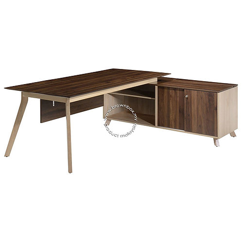 PX7 7 Feet Director Table with Side Cabinet