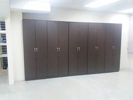 High cabinet-swing door in oregon pine special made color