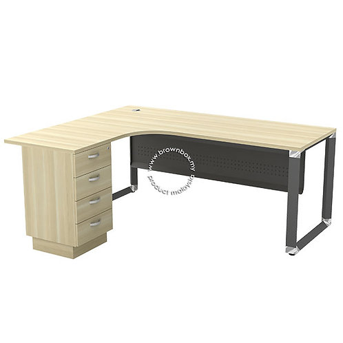 malaysia executive manager director L-shape table with 4 Drawer Pedestal