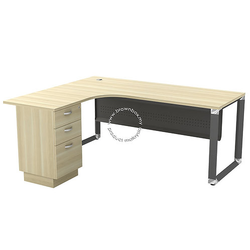 malaysia executive manager director L-shape table with 2+1 Drawer Pedestal