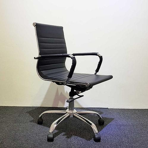 Lelong Corner: PU Low Back Chair