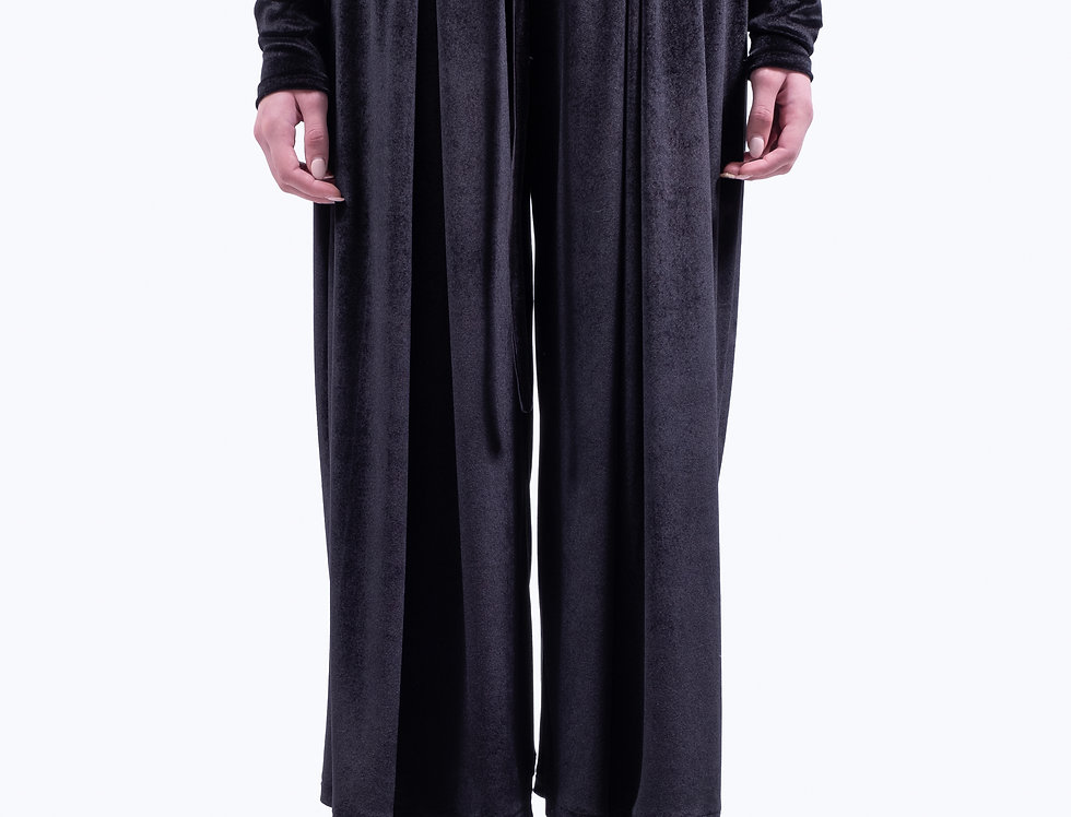Japanese pleated velvet pants
