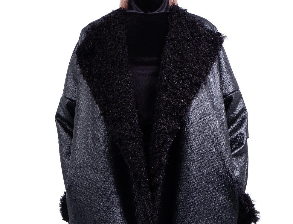 Oversized textured Coat