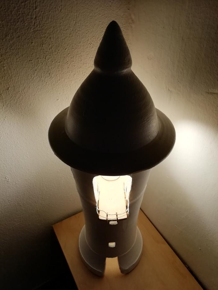 lampada faro 2 accesa vista dall'alto