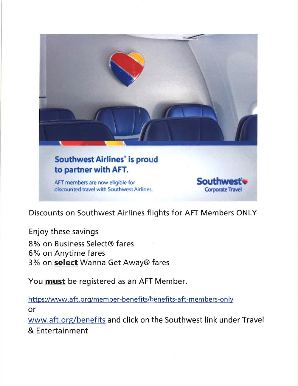 Note: you will need to use the Southwest Airlines corporate ID (99205643) to take advantage of this discount.