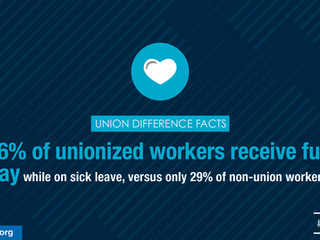The Union Difference: Full Pay for Sick Leave