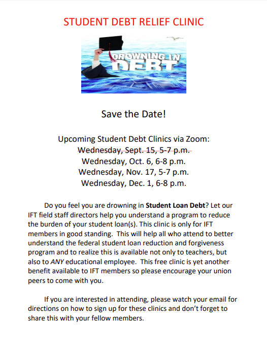 IFT Offering Student Debt Clinics via Zoom