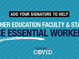 Prioritize Higher Education Faculty and Staff for COVID Vaccine in Phase 1B--Sign the Petition!