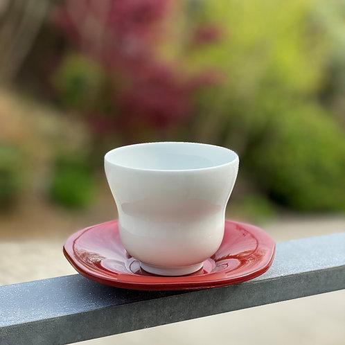 白磁瓢形煎茶碗