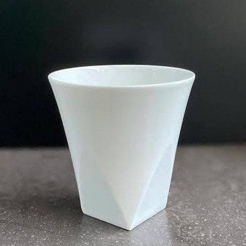 白磁面取りフリーカップ(四面)