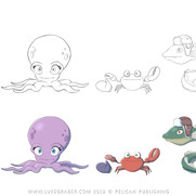 """""""How the Squid Got Two Long Arms"""" - character designs"""