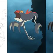 """Underwater Creature"" - digital coloring development"