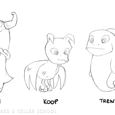 """""""Day at the Zoo"""" - 4 animals sketches"""