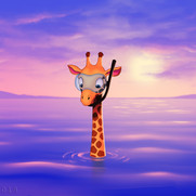 """""""Giraffe in Ocean"""""""
