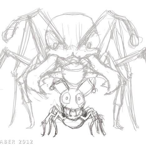 """Bulldog Ants"" - rough digital sketch"