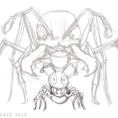"""""""Bulldog Ants"""" - rough digital sketch"""