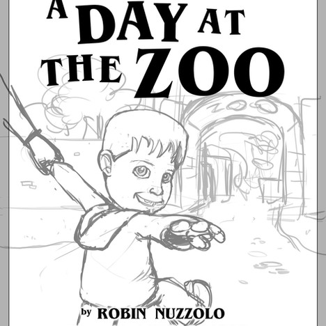"""""""Day at the Zoo"""" - cover sketch"""