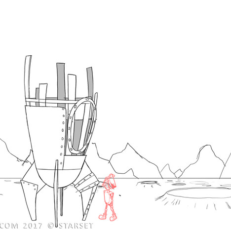 Back to the Earth - Ship Construction 1 Sketch